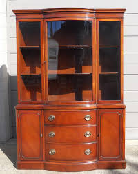 Chinese Cabinets Kitchen Drexel Vintage New Travis Court Mahogany Bow Front China Cabinet
