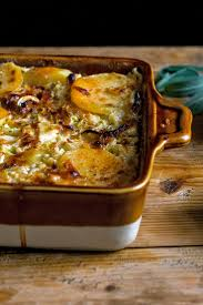 Potatoes Main Dish - cabbage and potato gratin makes a rich vegetarian meal