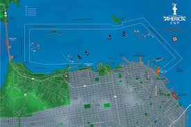 America Map San Francisco by San Francisco America U0027s Cup Map Insight Editions 9781608872497