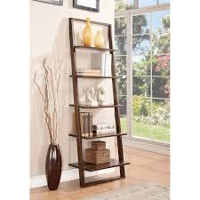 riverside lean living leaning bookcase hayneedle