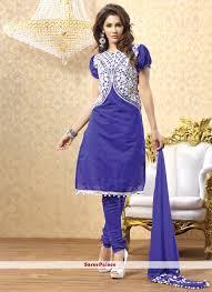 design of jacket suit buy blue jacket style chanderi churidar suit online