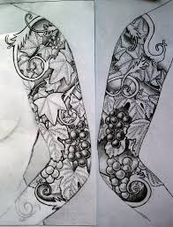 free black white sleeve drawings kafxacx prevflowers