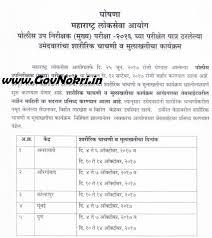 sub inspector exam 2016 physical exam schedule