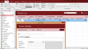 database template microsoft access asset tracking management database templates for