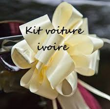 kit deco voiture mariage kit décoration voiture mariage ivoire pas cher