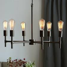 Exposed Bulb Chandelier Industrial Chandelier West Elm 249 Lighting Pinterest
