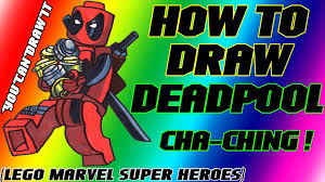 draw deadpool lego marvel super heroes youcandrawit