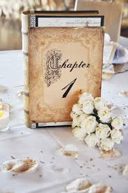 themed table numbers 23 book inspired wedding decorating ideas pretty designs