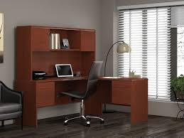 Black L Shaped Desk With Hutch Shaped Desk With Hutch Left Return Image Of Black And Inspiration