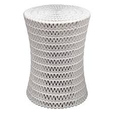 white outdoor side table modern end tables outdoor end tables iron wood