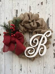 christmas burlap wreaths personalized shabby chic burlap wreath by fromthecoast2thecity