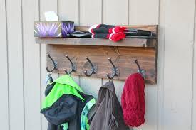 bronze towel rack hooks rustic modern coat rack floating shelf