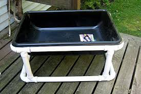 how to build a sensory table how to make pvc sensory table for children made this one today for