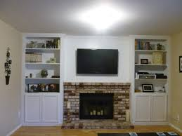 shelving next to fireplace and clean to enhance the modern feel