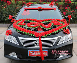 car decorations wedding car decorations car flowers heart shape bridal car