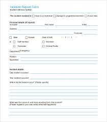 incident report template qld incident report forms fieldstation co