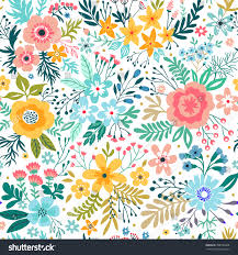 cute pattern small abstract flower beautiful stock vector