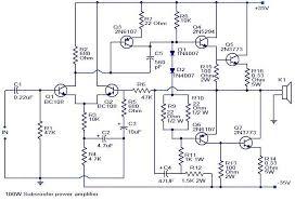 100 watts subwoofer amplifier circuit diagram amplifiers