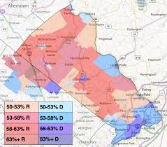 bucks county map maps what democrats are up against in pa 8 politicspa