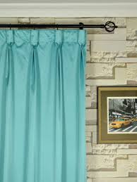 Blue Silk Curtains Waterfall Solid Blue Goblet Faux Silk Curtains