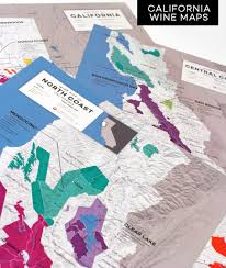 California Wine Country Map Detailed Map Of Wine Regions In California Usa Wine Posters