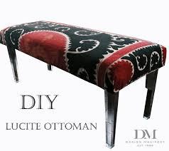 cottage project diy lucite suzani ottoman design manifestdesign