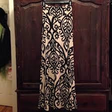 60 off cezanne dresses u0026 skirts black and tan pattern maxi