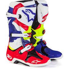alpinestars tech 3 motocross boots new alpinestars mx tech 10 mxon le nations red blue fluro yellow