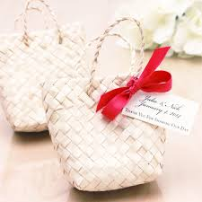 popular wedding favors mini palm leaf favor bag 10 pcs favor bags favor packaging