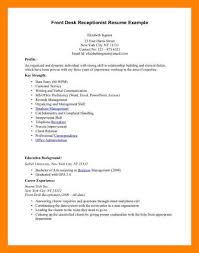 Receptionist Resume Template Front Desk Receptionist Resume Sample Cbshow Co
