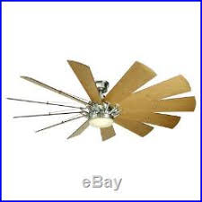 Brushed Nickel Ceiling Fan With Light Decorators Trudeau 60 Led Brushed Nickel Ceiling Fan Withlight Kit