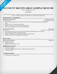 Accounting Clerk Sample Resume by Accounts Receivable Resume Sample Template Design