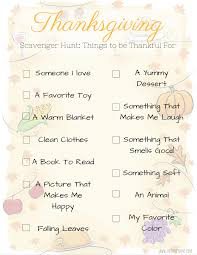 thanksgiving scavenger hunt free printable the shady