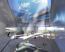 Interior Water Features Gallery Of New Taipei City Museum Of Art Proposal Behnisch