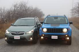 mash jeep 2016 jeep renegade vs 2016 subaru crosstrek autoguide com news