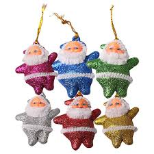 tree hanging ornaments decoration santa claus festival