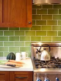 green subway tile kitchen backsplash 11 creative subway tile backsplash ideas hgtv