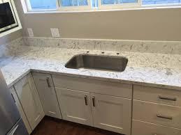 Non Toxic Kitchen Cabinets Kitchen White Shaker Cabinets U0026 Quartz Countertop In Los Alamitos