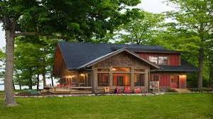 one story log cabins apartments lake house home plans narrow lake house plans one