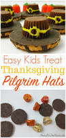 super easy thanksgiving pilgrim hat treat recipe