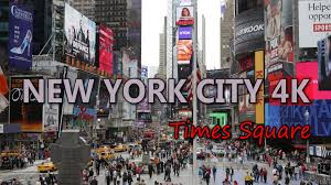 Ultra Hd 4k New York City Travel Times Square Us Tourism Busy