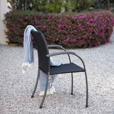 Patio Stack Chairs by Ludwig Wicker Stacking Patio Dining Arm Chair Set Of 6 U2013 Royal Garden