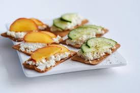 canape toast ricotta cheese with and cucumber stock image image of canape