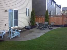 Backyard Concrete Patio by Lacey Exposed Aggregate Concrete Patio Extension Ajb Landscaping