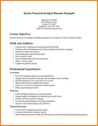 Sample Resume Of A Financial Analyst by Sample Resume Of A Financial Analyst Free Resume Example And