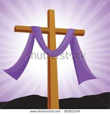 lent cross easter day crucifixion jesus stock vector 262152719