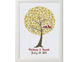 tree cross stitch etsy