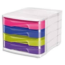 trieur papier bureau cep module de classement en polystyrène 4 tiroirs assortis