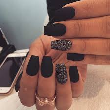 25 cool matte nail designs to copy in 2017 matte black nails