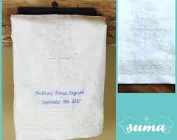 Baptism Blanket Personalized Christening Blanket Etsy